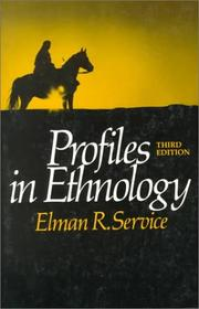 Cover of: Profiles in ethnology