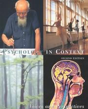 Cover of: Psychology in Context | David N. Sattler, Virginia Shabatay