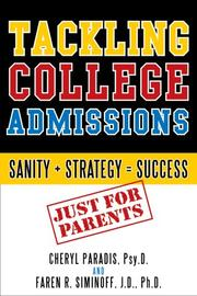 Cover of: Tackling College Admissions | Cheryl Paradis
