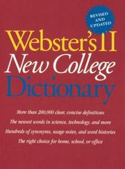 Cover of: Webster's II new college dictionary. |