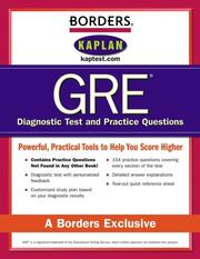 Cover of: Borders GRE Diagnostic Tests and Practice Questions | Kaplan Publishing