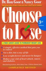 Cover of: Choose to Lose | Nancy Goor