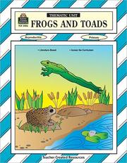Cover of: Frogs and Toads Thematic Unit