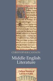 Cover of: Cultural History of Medieval English Literature, 1066-1534 (Cultural History of Literature) | Cannon, John