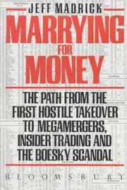 Cover of: Marrying for Money