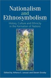 Cover of: Nationalism and ethnosymbolism by