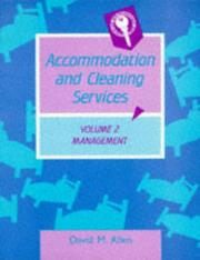Cover of: Accommodation & Cleaning Services Vol. 2: Management
