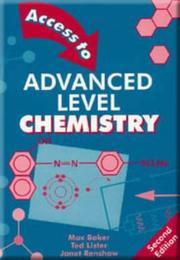 Cover of: Access to advanced level chemistry