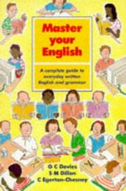 Cover of: Master Your English (Master Your Spelling) | C. Egerton-Chesney