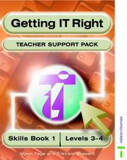 Cover of: Getting It Right Teacher Support Packs 1 Levels 3-4 (Getting It Right) | Alison Page