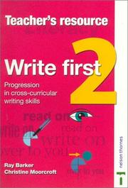 Cover of: Write First | Ray Barker