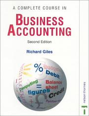 Cover of: A Complete Course in Business Accounting
