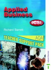 Cover of: Applied Business GCSE | Richard Barrett