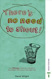 Cover of: There's No Need to Shout!