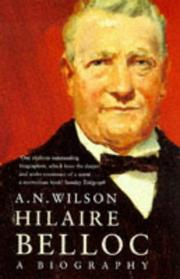 Cover of: Hilaire Belloc, A Biography