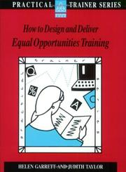 Cover of: How to Design and Deliver Equal Opportunities Training