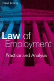 Cover of: Law of Employment