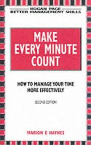 Cover of: Make Every Minute Count