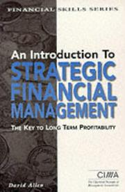 Cover of: An Introduction to Strategic Financial Management (CIMA Financial Skills Series)
