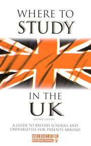 Cover of: Where to Study in the UK | Mentor Isc Educational Consultants