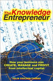 Cover of: The Knowledge Entrepreneur