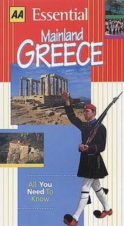 Cover of: Essential Mainland Greece