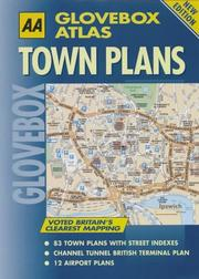 Cover of: Town Plans (AA Glovebox Atlas)
