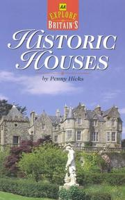 Cover of: Explore Britain's Historic Houses