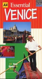 Cover of: Essential Venice