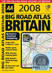 Cover of: AA 2008 Big Road Atlas Britain (Aa Atlases) | AA Publishing
