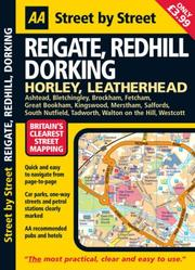 Cover of: AA Street by Street Reigate, Redhill Dorking | AA Publishing