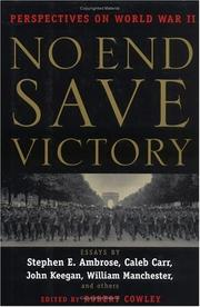 Cover of: No end save victory |