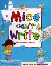 Cover of: Mice Can't Write (Animals Can't...)