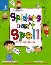 Cover of: Spiders Can't Spell (Animals Can't...)