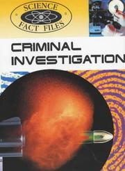 Cover of: Criminal Investigation (Science Fact Files)