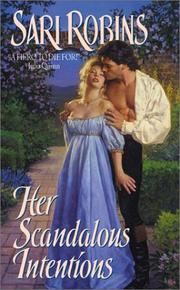 Cover of: Her scandalous intentions | Sari Robins