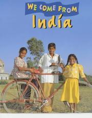 Cover of: India (We Come from)
