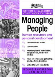 Cover of: IM ACTIVITY PACK: Managing People | Ken Giles