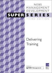 Cover of: Nebsm Delivering Training (Super) | NEBSM