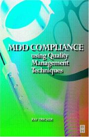 Cover of: MDD Compliance Using Quality Management Techniques