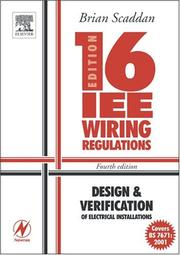 Cover of: IEE Wiring Regulations