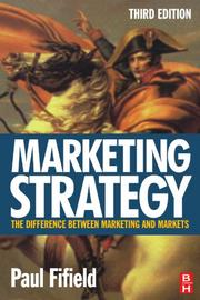 Cover of: Marketing Strategy, Third Edition | Paul Fifield