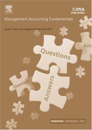 Cover of: Management Accounting Fundamentals May 2003 Exam Questions and Answers (CIMA May 2003 Q&As)