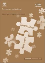 Cover of: Economics for Business May 2003 Exam Questions and Answers (CIMA May 2003 Q&As)