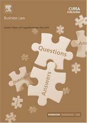 Cover of: Business Law May 2003 Exam Questions and Answers (CIMA May 2003 Q&As)
