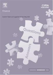 Cover of: Finance May 2003 Exam Questions and Answers (CIMA May 2003 Q&As)