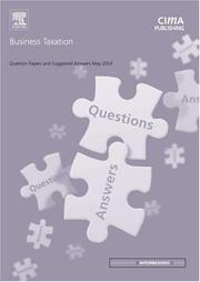 Cover of: Business Taxation May 2003 Exam Questions and Answers (CIMA May 2003 Q&As)