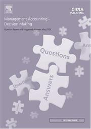 Cover of: Management Accounting Decision Making May 2003 Exam Questions and Answers (CIMA May 2003 Q&As)
