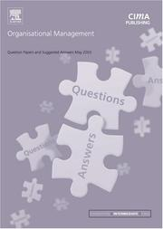 Cover of: Organisational Management May 2003 Exam Questions and Answers (CIMA May 2003 Q&As)