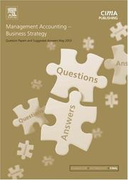 Cover of: Management Accounting- Business Strategy May 2003 Exam Questions and Answers (CIMA May 2003 Q&As)